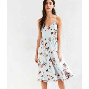 Urban Outfitters Cindy Ladder Lace Midi Dress